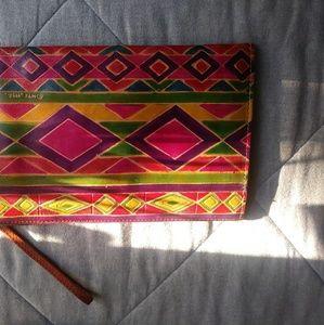 Vintage Cultural Clutch /wristlet with wallet
